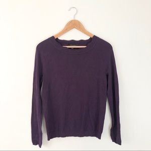 Ann Taylor Plum Scalloped Knit Top